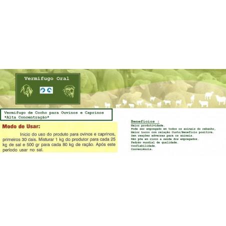 Vermifugo Oral Para Ouvinos e Caprinos